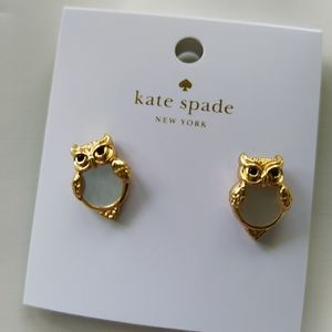 Kate Spade gold owl earrings